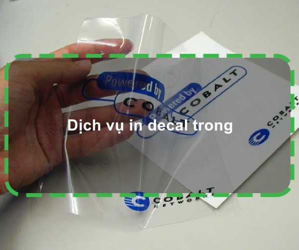 Dịch vụ in decal trong