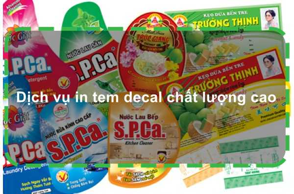 Dịch vụ in tem decal chất lượng cao